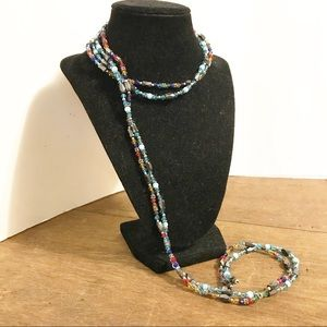 Red and Blue Magnetic NECKLACE Bracelet